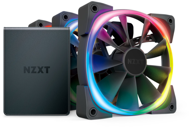 3 X 120mm Nzxt Aer Rgb 2 Case Fan With Hue Controller Pn