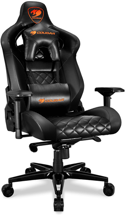 Cougar Armor Titan Pvc Leather Gaming Chair Black With