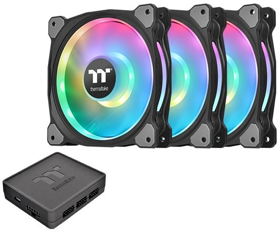 3 x 140mm Thermaltake Riing DUO 14 RGB Premium Fans with