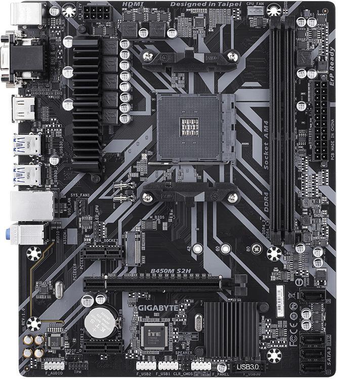 Gigabyte Am4 Microatx Ga B450m S2h Ddr4 Motherboard