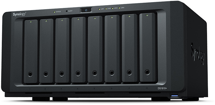 8 Bay Synology DS1819+ 4GB DiskStation Scalable Gigabit NAS Unit