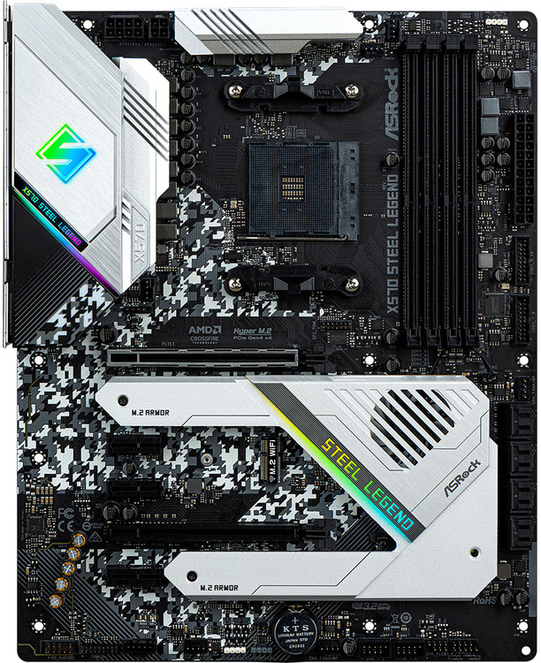 Asrock AM4 ATX X570 STEEL LEGEND DDR4 Motherboard | Computer Alliance