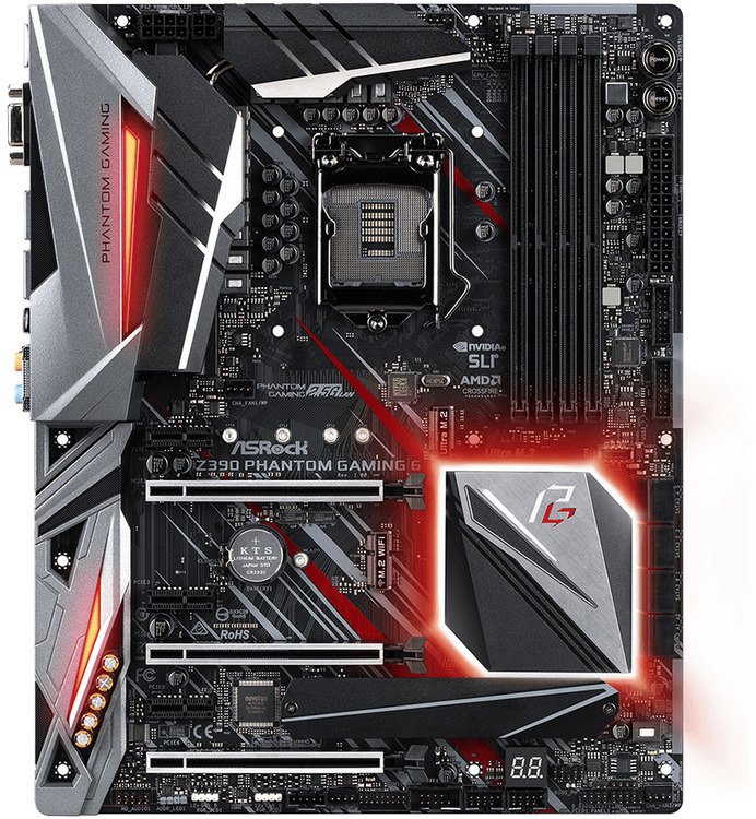 Asrock S1151 ATX Z390 PHANTOM Gaming 6 DDR4 Motherboard | Computer