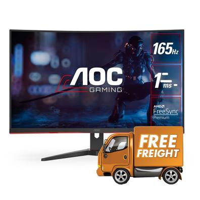 31.5 AOC C32G2E FHD 165hz FreeSync Curved Gaming Monitor, Claim Bonus $50 Steam Code Via Online Redemption!*