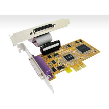 2 Port Parallel PCIe Sunix Card PN SUN-PAR5418A