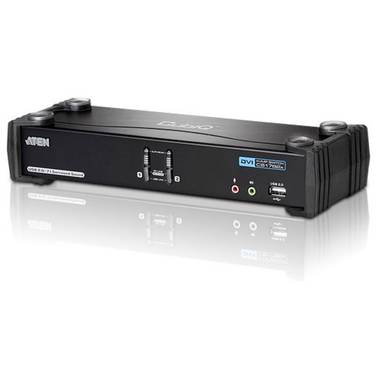 2 Port Aten CS-1782A USB/Dual Link DVI KVM Switch with 7.1 Audio