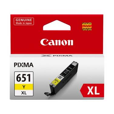 Canon CLI-651XLY Hi-Yield Yellow Inkjet Cartridge