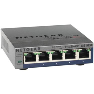 5 Port Netgear GS105E PROSAFE Gigabit Network Switch