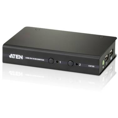 2 Port ATEN CS-72D USB DVI KVM Switch