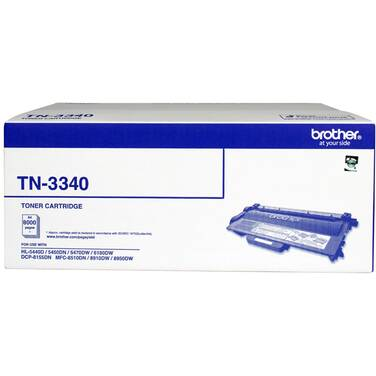 Brother TN-3340 Black High Yield Toner Cartridge (8,000 Pages)