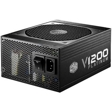 1200 Watt Coolermaster V1200 80+ Platinum Modular Power Supply PN RSC00-AFBAG1-AU