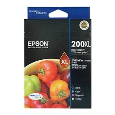 Epson 200 (B/C/M/Y) High Yield Value Pack PN C13T201692
