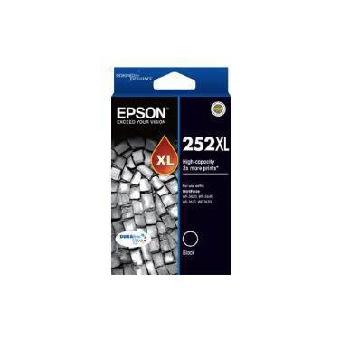 Epson 252 Black High Yield Ink Cartridge (1,100 Pages) PN C13T253192
