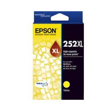 Epson 252 Yellow High Yield Ink Cartridge (1,100 Pages) PN C13T253492