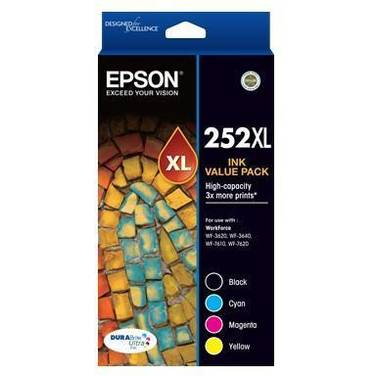 Epson 252 (B/C/M/Y) High Yield Value Pack PN C13T253692