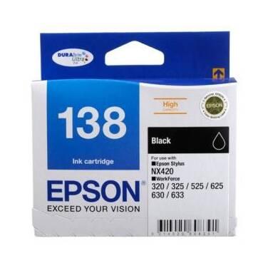 Epson 138 Black High Yield Ink Cartridge PN C13T138192