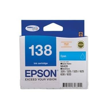 Epson 138 Cyan High Yield Ink Cartridge PN C13T138292