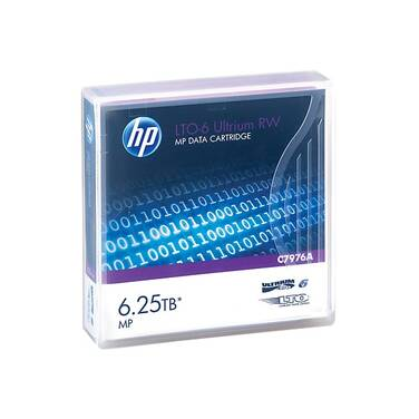 HP LTO-6 2.5TB - 6.25TB Ultrium Data Cartridge PN C7976A