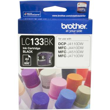 Brother LC-133BK Black Ink Cartridge (600 Pages)