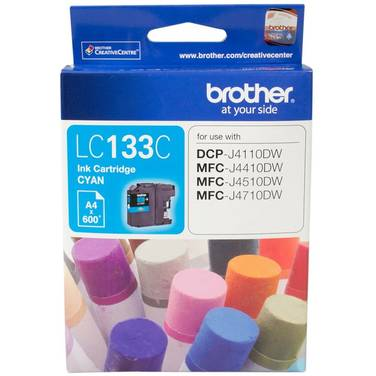 Brother LC-133C Cyan Ink Cartridge (600 Pages)