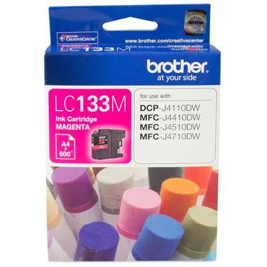 Brother LC-133M Magenta Ink Cartridge (600 Pages)