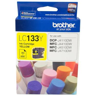 Brother LC-133Y Yellow Ink Cartridge (600 Pages)
