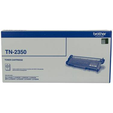 Brother TN-2350 Black Toner Cartridge (2,600 Pages)
