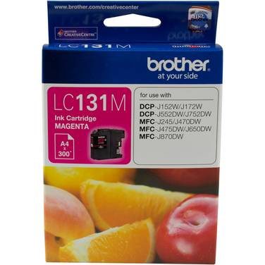 Brother LC-131M Magenta Ink Cartridge (300 Pages)