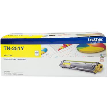 Brother TN-251Y Yellow Toner Cartridge (1,400 Pages)