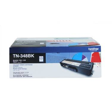 Brother TN-348BK Black High Yield Toner Cartridge (6,000 Pages)