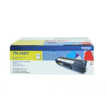Brother TN-348Y Yellow High Yield Toner Cartridge (6,000 Pages)