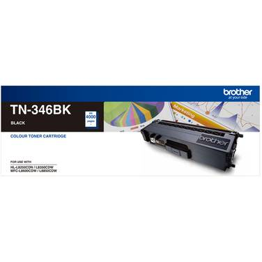 Brother TN-346BK Black Toner Cartridge (4,000 Pages)
