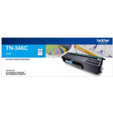 Brother TN-346C Cyan Toner Cartridge (3,500 Pages)