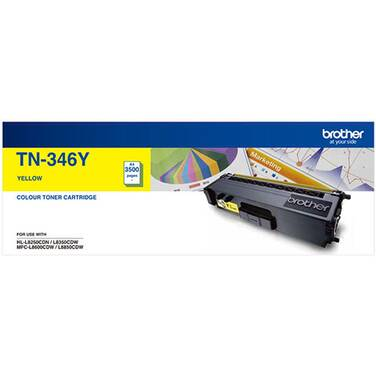 Brother TN-346Y Yellow Toner Cartridge (3,500 Pages)