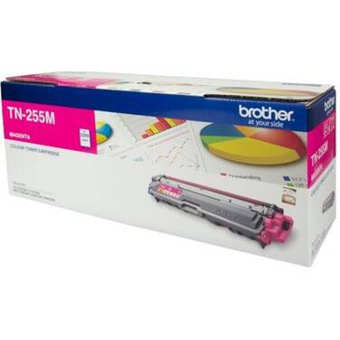 Brother TN-255M Magenta Toner Cartridge (2,200 Pages)