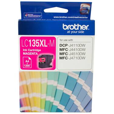 Brother LC-135XLM Magenta Ink Cartridge (1,200 Pages)
