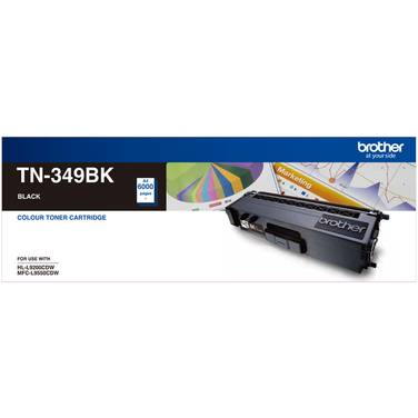 Brother TN-349BK Black Toner Cartridge (6,000 Pages)