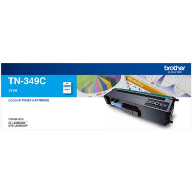 Brother TN-349C Cyan Toner Cartridge (6,000 Pages)