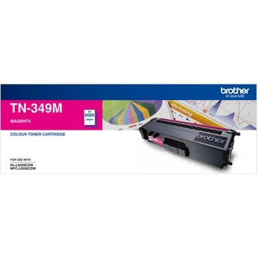 Brother TN-349M Magenta Toner Cartridge (6,000 Pages)