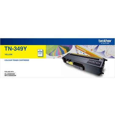 Brother TN-349Y Yellow Toner Cartridge (6,000 Pages)