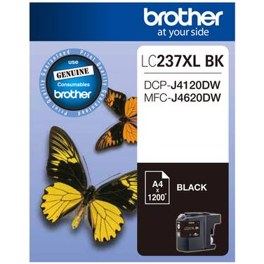 Brother LC-237XLBK Black Ink Cartridge (1,200 Pages)