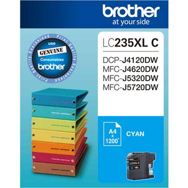 Brother LC-235XLC Cyan Ink Cartridge (1,200 Pages)
