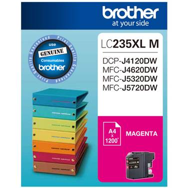 Brother LC-235XLM Magenta Ink Cartridge (1,200 Pages)
