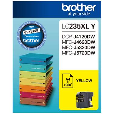 Brother LC-235XLY Yellow Ink Cartridge (1,200 Pages)