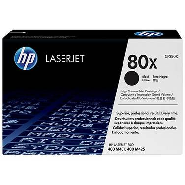 HP 80X Black High Yield Toner Cartridge (6,900 Pages) PN CF280X