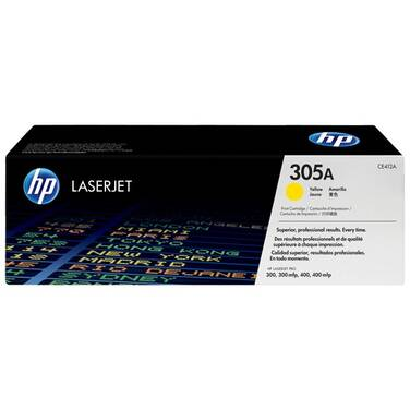 HP 305A Yellow Toner Cartridge (2,600 Pages) PN CE412A