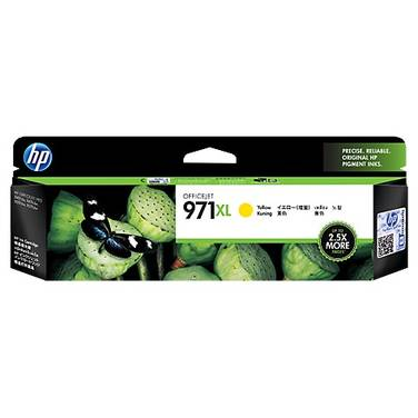 HP 971XL Yellow High Yield Ink Cartridge (6,600 Pages) PN CN628AA