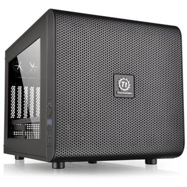 Thermaltake MicroATX Core V21 Cube Case Black (No PSU) CA-1D5-00S1WN-00