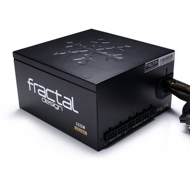 550 Watt Fractal Design Edison M 80+ Gold Power Supply PN FD-PSU-ED1B-550W