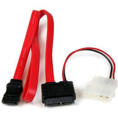 50cm StarTech Slimline SATA to SATA with LP4 Power Cable Adapter